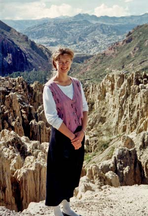 Barbara Knutson in the Andes