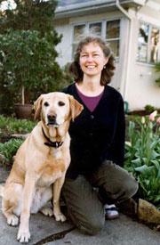 Barbara Knutson with her dog