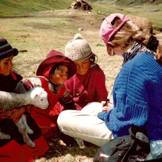 Barbara Knutson with Shepherd Girls