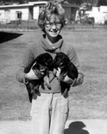 Barbara with puppies